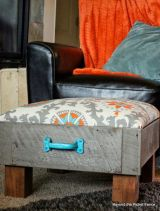 Upcycle an old drawer to make an ottoman.